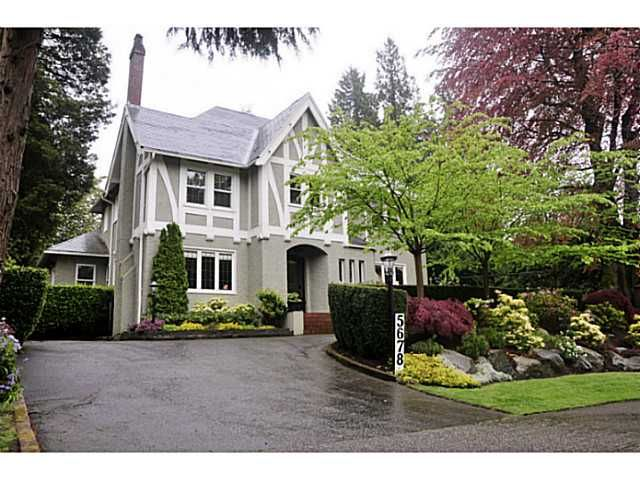 Main Photo: 5678 CYPRESS ST in Vancouver: Shaughnessy House for sale (Vancouver West)  : MLS®# V1127217