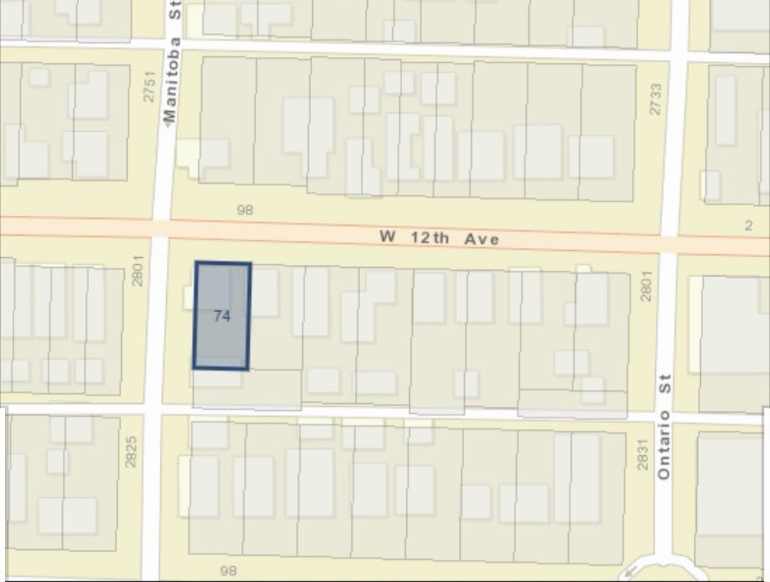 Main Photo: 74 W 12TH Avenue in Vancouver: Mount Pleasant VW Land for sale (Vancouver West)  : MLS®# R2460315