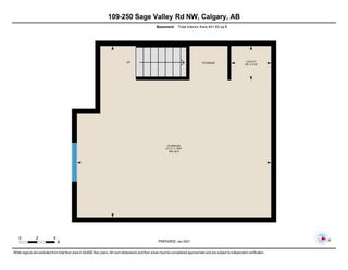 Photo 19: 109 250 Sage Valley Road NW in Calgary: Sage Hill Row/Townhouse for sale : MLS®# A1061323