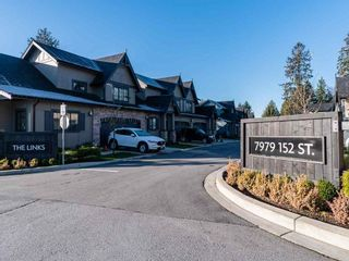 """Photo 1: 27 7979 152 Street in Surrey: Fleetwood Tynehead Townhouse for sale in """"THE LINKS"""" : MLS®# R2545391"""