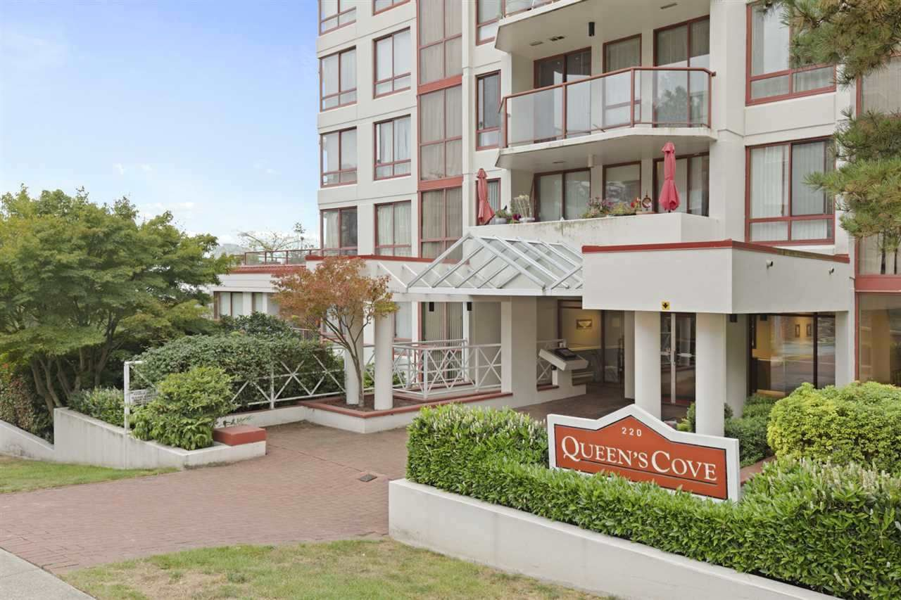 "Main Photo: 404 220 ELEVENTH Street in New Westminster: Uptown NW Condo for sale in ""QUEENS COVE"" : MLS®# R2552061"