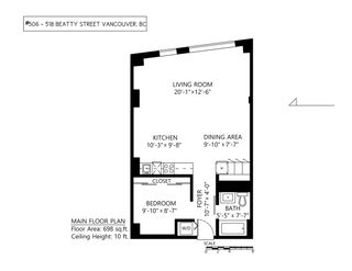 """Photo 23: 506 518 BEATTY Street in Vancouver: Downtown VW Condo for sale in """"Studio 518"""" (Vancouver West)  : MLS®# R2540044"""