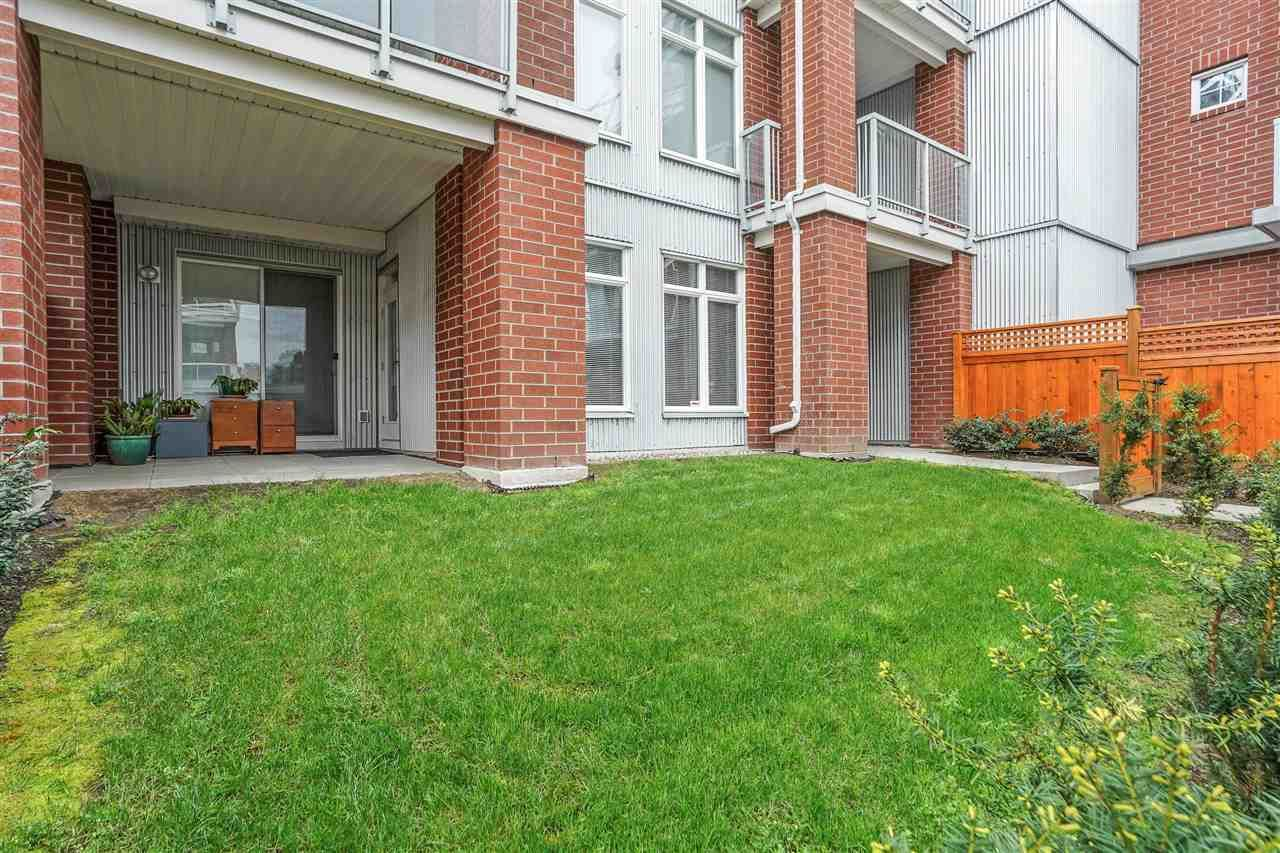 """Main Photo: 105 4111 BAYVIEW Street in Richmond: Steveston South Condo for sale in """"THE BRUNSWICK @ Imperial Landing"""" : MLS®# R2575054"""