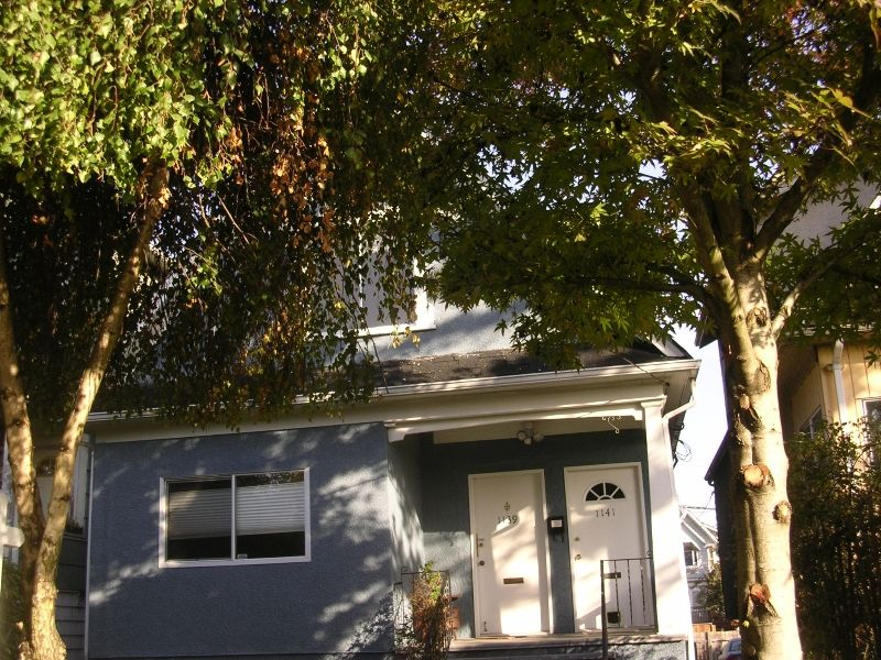 Main Photo: 1141 E 13TH Ave in Vancouver: Mount Pleasant VE House for sale (Vancouver East)  : MLS®# V613183