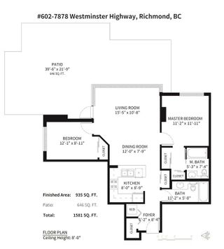 """Photo 2: 602 7878 WESTMINSTER Highway in Richmond: Brighouse Condo for sale in """"The Wellington"""" : MLS®# R2255339"""