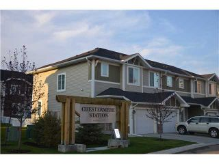 Photo 1: 111 300 MARINA Drive W in : Chestermere Townhouse for sale : MLS®# C3589237