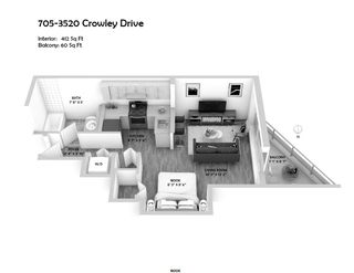 """Photo 4: 705 3520 CROWLEY Drive in Vancouver: Collingwood VE Condo for sale in """"THE MILLENIO"""" (Vancouver East)  : MLS®# R2446146"""