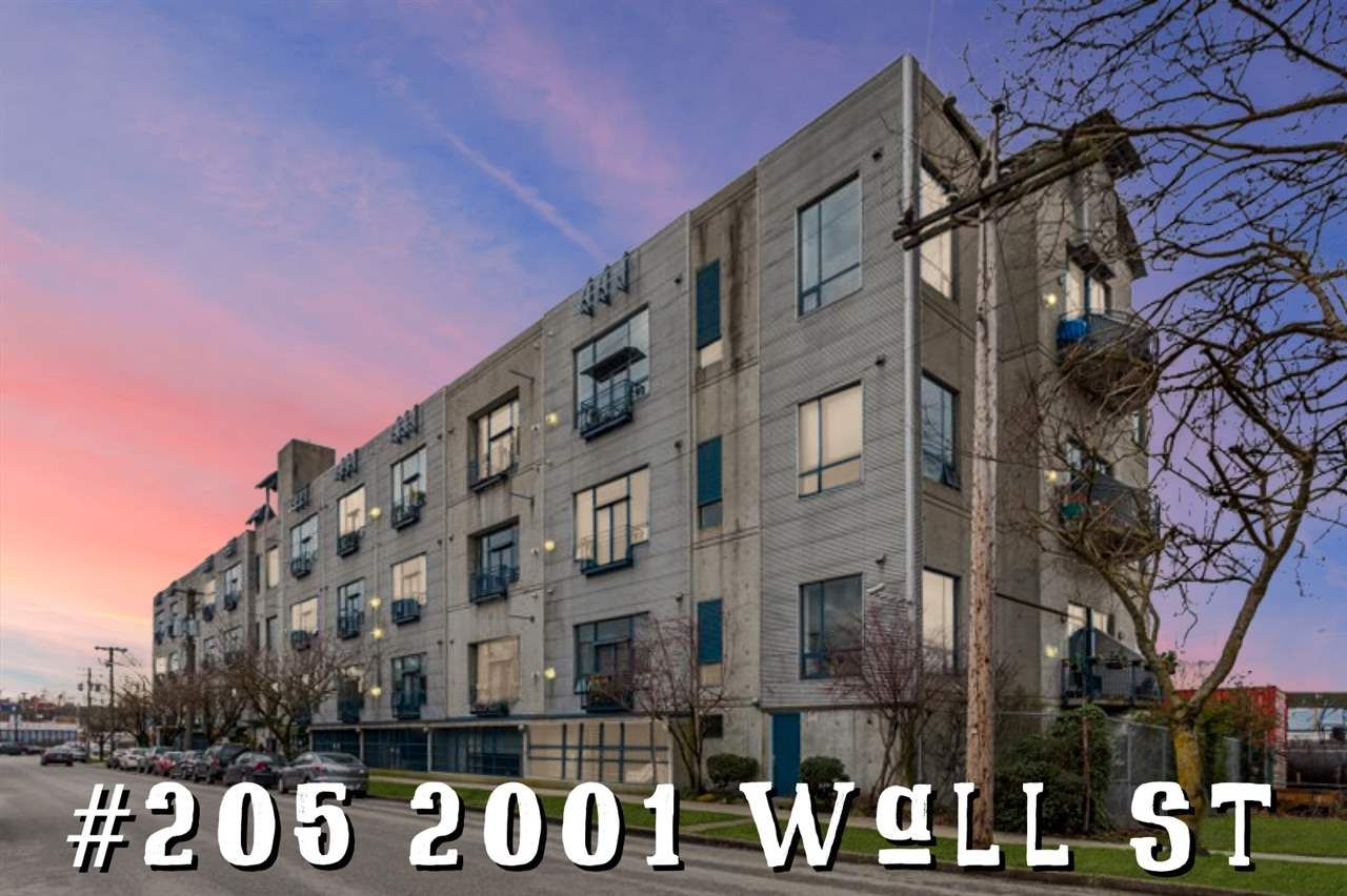 """Main Photo: 205 2001 WALL Street in Vancouver: Hastings Condo for sale in """"Cannery Row Lofts"""" (Vancouver East)  : MLS®# R2587997"""