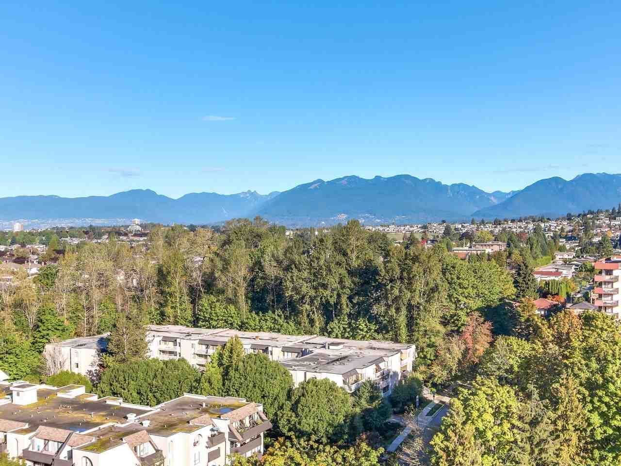 Stunning views from Metrotown to the south, to the North Shore Mountains and Golden Ears to the NE.