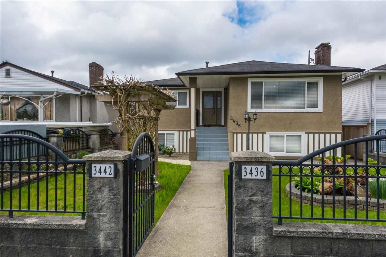Main Photo: 3436 TANNER STREET in Vancouver: Collingwood VE House for sale (Vancouver East)  : MLS®# R2226818