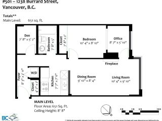 Photo 14: 501 1238 BURRARD STREET in Vancouver: Downtown VW Condo for sale (Vancouver West)  : MLS®# R2568314
