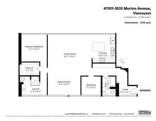 """Photo 40: 1101 1835 MORTON Avenue in Vancouver: West End VW Condo for sale in """"OCEAN TOWERS"""" (Vancouver West)  : MLS®# R2613716"""