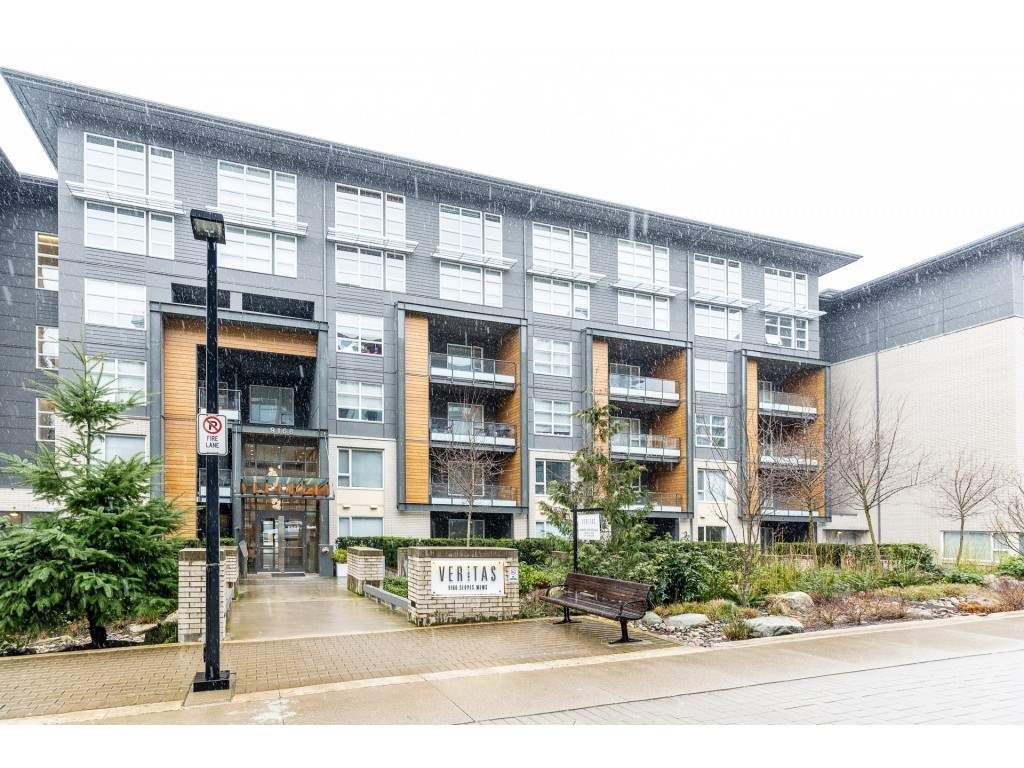 "Main Photo: 101 9168 SLOPES Mews in Burnaby: Simon Fraser Univer. Condo for sale in ""VERITAS BY POLYGON"" (Burnaby North)  : MLS®# R2443492"