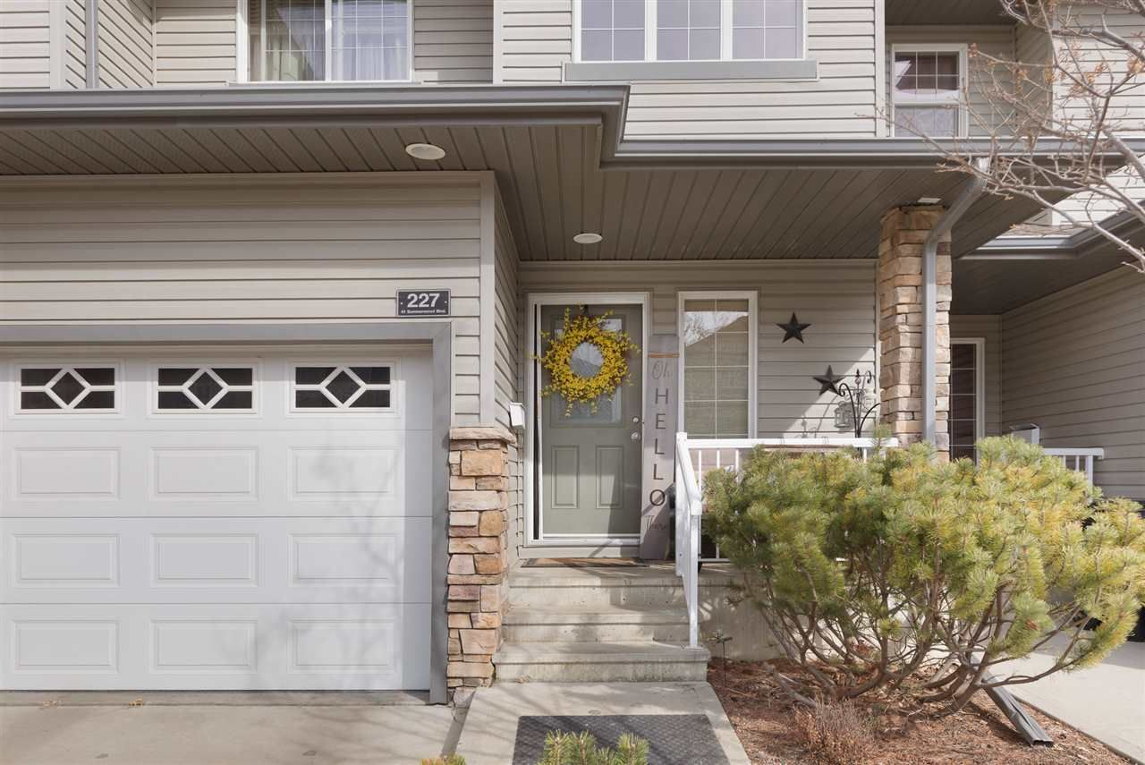 Main Photo: 227 41 Summerwood Boulevard: Sherwood Park Townhouse for sale : MLS®# E4237245