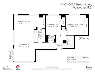 """Photo 6: 407 6026 TISDALL Street in Vancouver: Oakridge VW Condo for sale in """"Oakridge Towers Limited"""" (Vancouver West)  : MLS®# R2221019"""