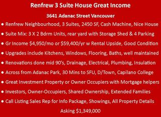 Photo 3: 3641 ADANAC Street in Vancouver: Renfrew VE House for sale (Vancouver East)  : MLS®# R2441963