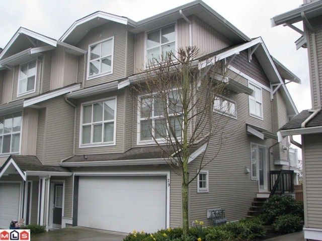 """Main Photo: 29 20460 66TH Avenue in Langley: Willoughby Heights Townhouse for sale in """"WILLOW EDGE"""" : MLS®# F1218333"""