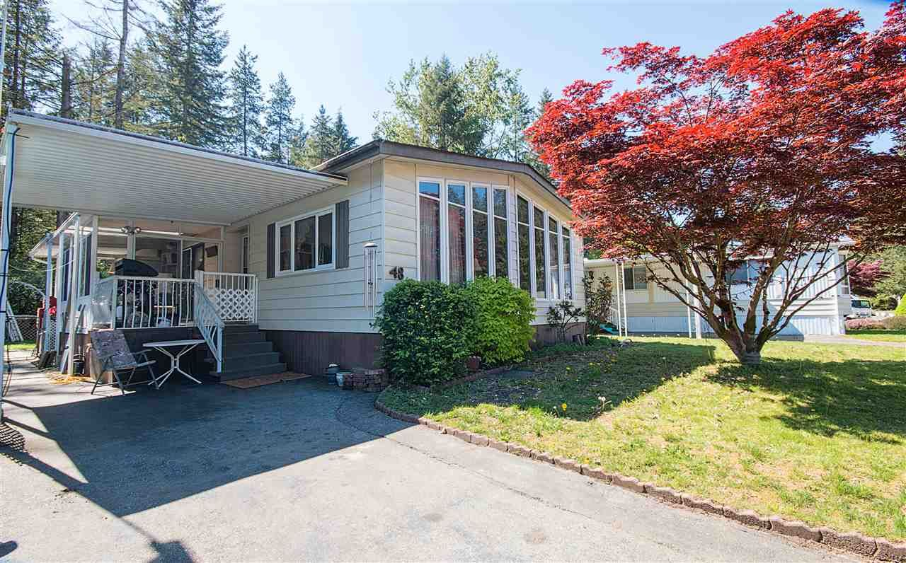 """Main Photo: 48 2305 200 Street in Langley: Brookswood Langley Manufactured Home for sale in """"CEDAR LANE"""" : MLS®# R2061584"""