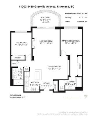 Photo 20: 1003 8460 GRANVILLE AVENUE in Richmond: Brighouse South Condo for sale : MLS®# R2482853