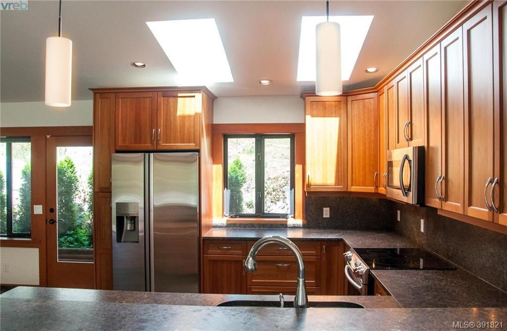 Natural light abounds through the skylights in this chef's kitchen.