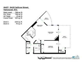 """Photo 25: 407 8420 JELLICOE Street in Vancouver: South Marine Condo for sale in """"THE BOARDWALK"""" (Vancouver East)  : MLS®# R2618056"""