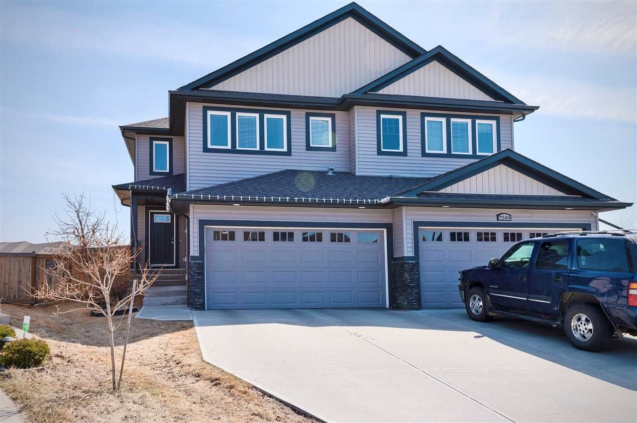 Main Photo: 7247 Armour Crescent SW in Edmonton: Zone 56 House Half Duplex for sale : MLS®# E4240443