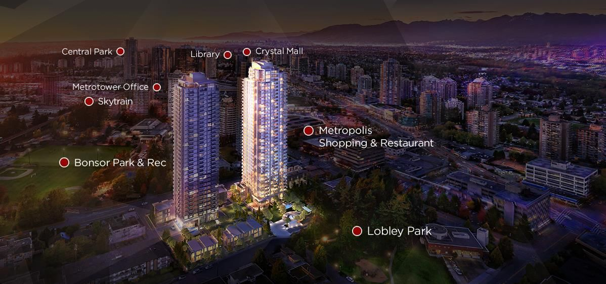 Main Photo: 2008 6538 NELSON AVENUE in Burnaby: Metrotown Condo for sale (Burnaby South)  : MLS®# R2554675