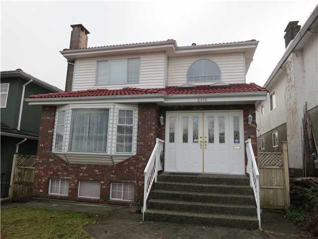 Main Photo: 3416 E 4TH AV in Vancouver: Renfrew VE House for sale (Vancouver East)  : MLS®# V1099526