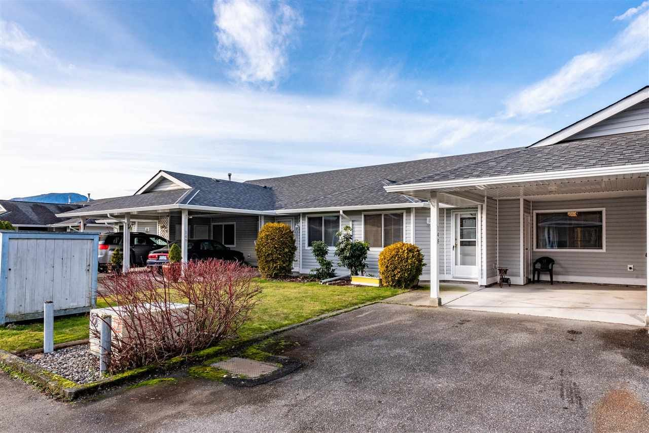 "Main Photo: 148 7610 EVANS Road in Chilliwack: Sardis West Vedder Rd Townhouse for sale in ""COTTONWOOD RETIREMENT VILLAGE"" (Sardis)  : MLS®# R2536002"