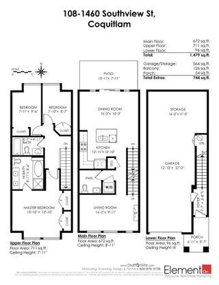 "Photo 20: 108 1460 SOUTHVIEW Street in Coquitlam: Burke Mountain Townhouse for sale in ""CEDAR CREEK"" : MLS®# R2539546"