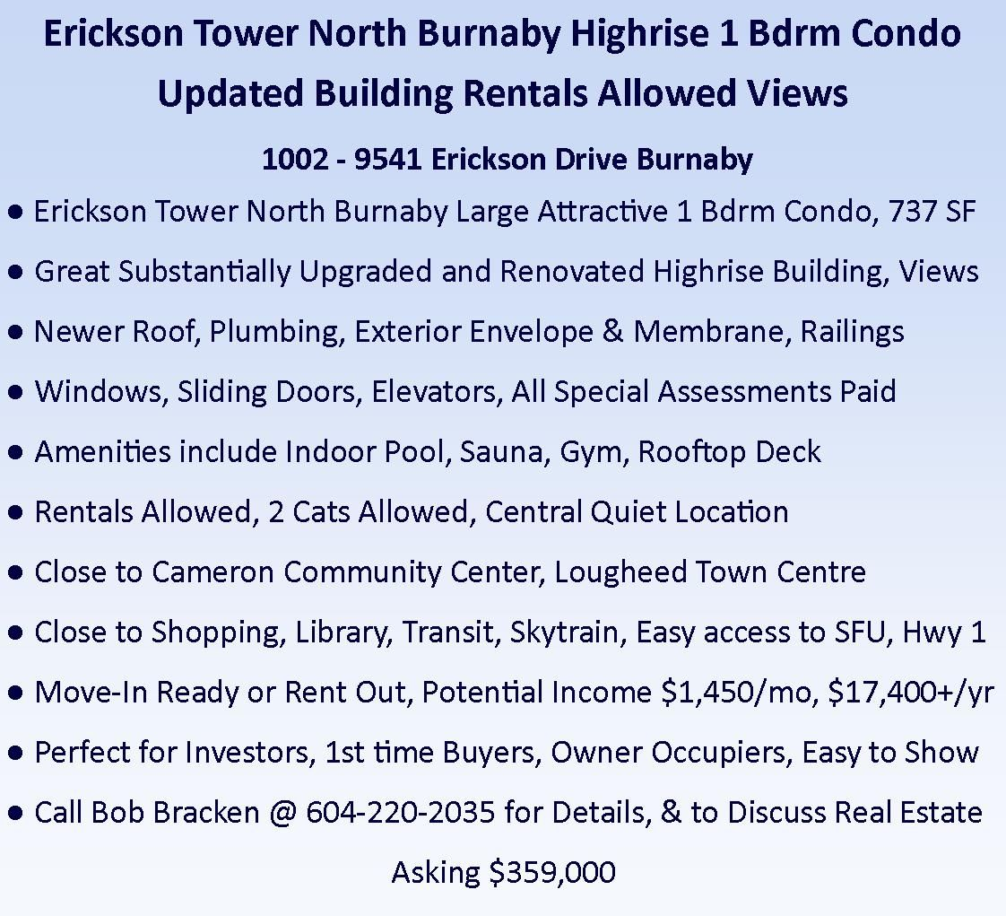 Photo 2: Photos: 1002 9541 ERICKSON Drive in Burnaby: Sullivan Heights Condo for sale (Burnaby North)  : MLS®# R2507603