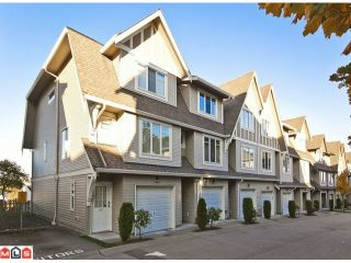 """Photo 1: 100 15175 62A Avenue in Surrey: Sullivan Station Townhouse for sale in """"Brooklands"""" : MLS®# F1127771"""
