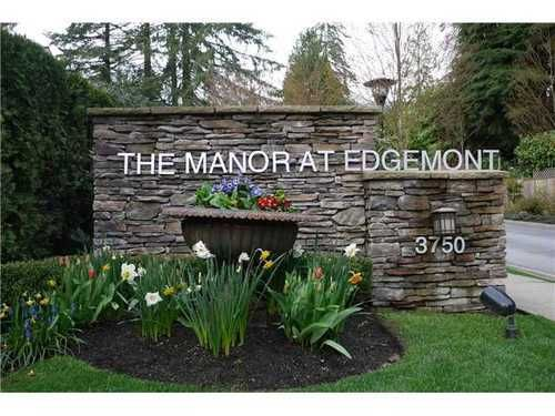Main Photo: 12 3750 EDGEMONT Blvd in North Vancouver: Home for sale : MLS®# V872866