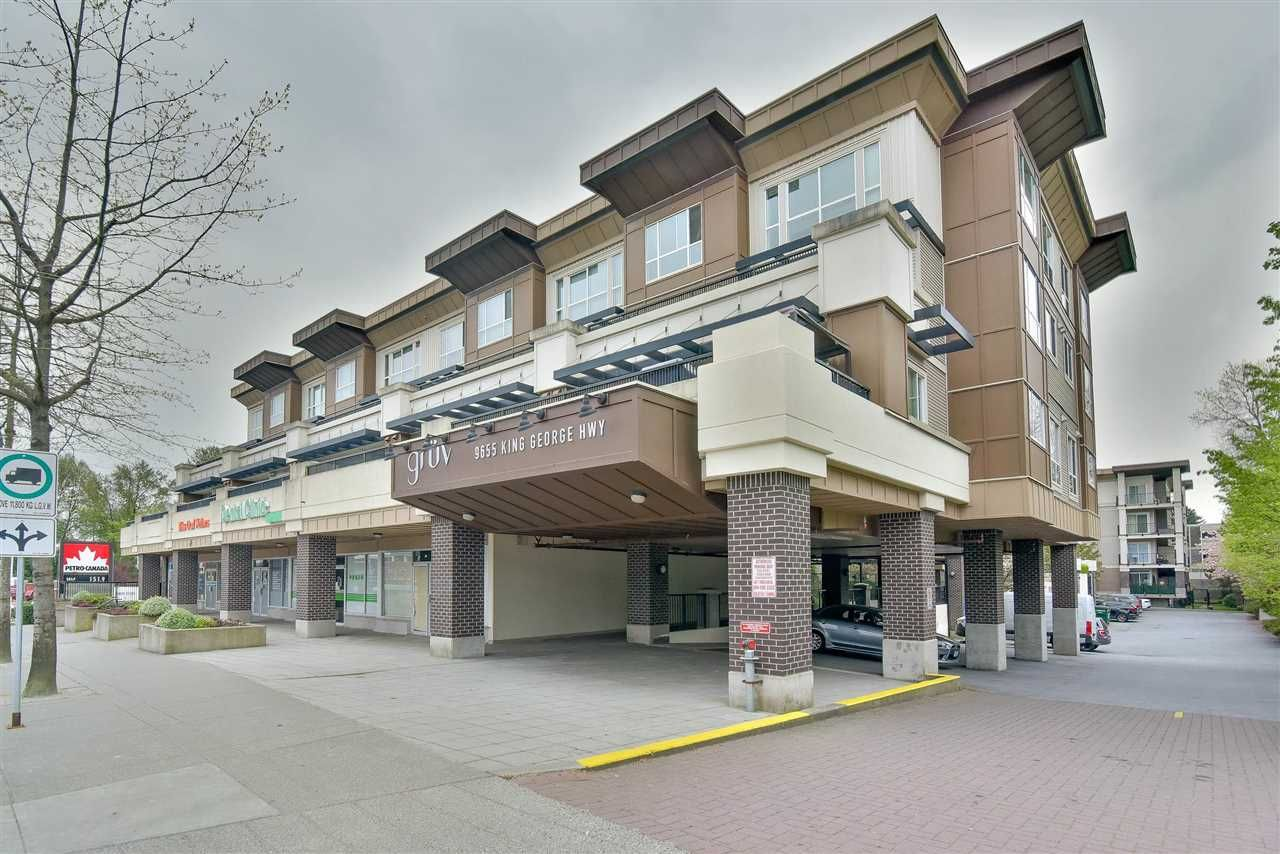 Main Photo: 123 9655 KING GEORGE Boulevard in Surrey: Whalley Condo for sale (North Surrey)  : MLS®# R2573402