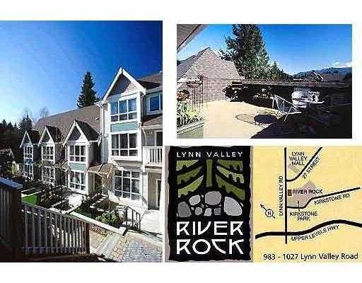 "Main Photo: 4 1005 LYNN VALLEY RD in North Vancouver: Lynn Valley Townhouse for sale in ""RIVER ROCK"" : MLS®# V561039"
