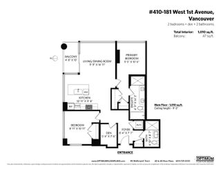"""Photo 40: 410 181 W 1ST Avenue in Vancouver: False Creek Condo for sale in """"The Brook"""" (Vancouver West)  : MLS®# R2614809"""