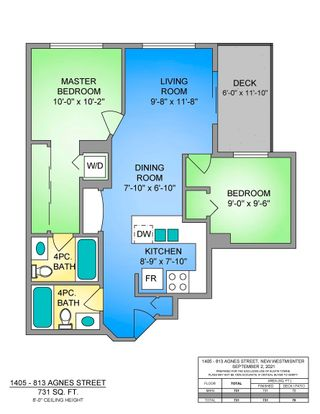 """Photo 21: 1405 813 AGNES Street in New Westminster: Downtown NW Condo for sale in """"NEWS"""" : MLS®# R2615108"""