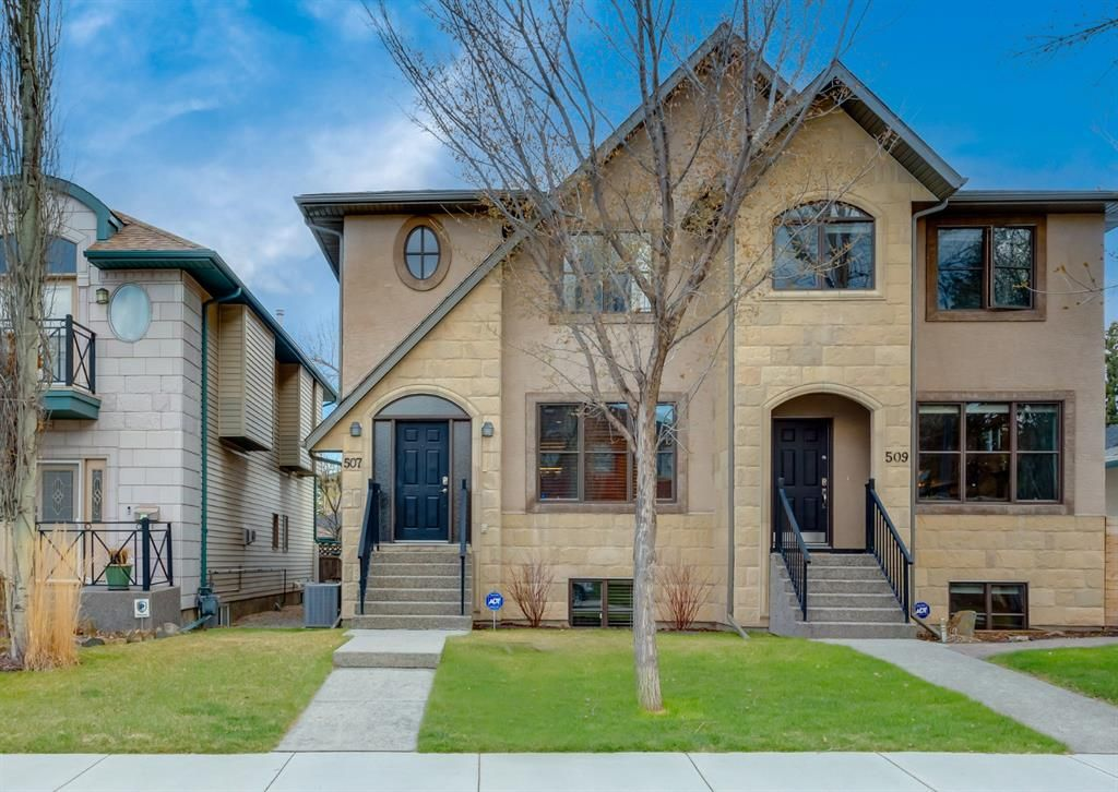 Main Photo: 507 52 Avenue SW in Calgary: Windsor Park Semi Detached for sale : MLS®# A1100298