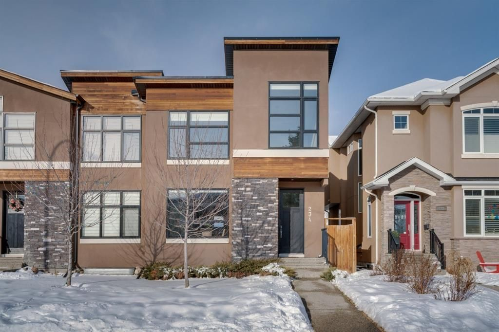 Main Photo: 234 25 Avenue NW in Calgary: Tuxedo Park Semi Detached for sale : MLS®# A1067179