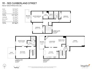 """Photo 2: 111 303 CUMBERLAND Street in New Westminster: Sapperton Townhouse for sale in """"Cumberland Court"""" : MLS®# R2606007"""
