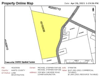 Photo 2: 239 New Cheverie Road in Burlington: 403-Hants County Vacant Land for sale (Annapolis Valley)  : MLS®# 202110100