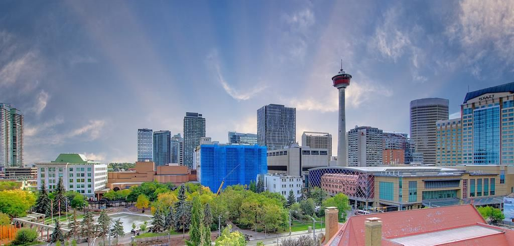 Wow! INCREDIBLE VIEWS of CALGARY TOWER & over looking OLYMPIC PLAZA!