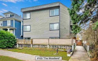 "Photo 1: 103 1540 E 4TH Avenue in Vancouver: Grandview Woodland Condo for sale in ""The Woodland"" (Vancouver East)  : MLS®# R2424218"