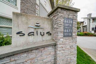 "Photo 1: 136 6671 121 Street in Surrey: West Newton Townhouse for sale in ""Salus"" : MLS®# R2573297"