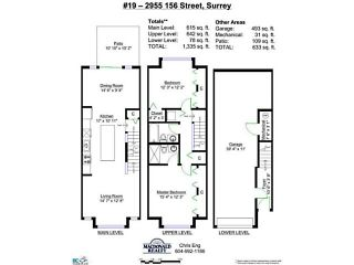 """Photo 13: 19 2955 156TH Street in Surrey: Grandview Surrey Townhouse for sale in """"ARISTA"""" (South Surrey White Rock)  : MLS®# F1412786"""