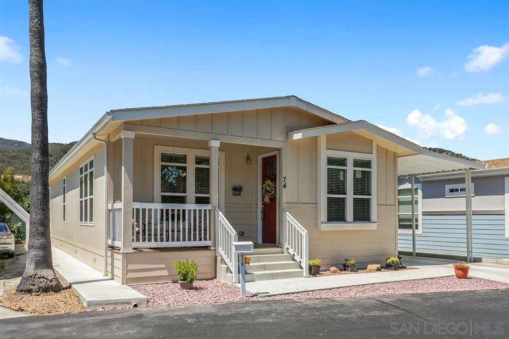 Main Photo: NORTH ESCONDIDO Manufactured Home for sale : 3 bedrooms : 8975 Lawrence Welk Dr #74 in Escondido