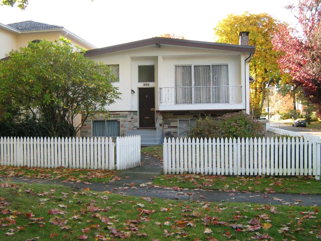 Main Photo: 3194 W27TH AVE in VANCOUVER: House for sale