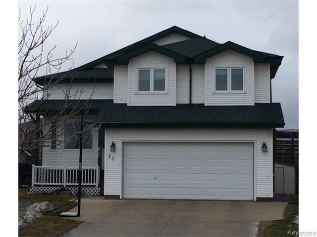 Main Photo: 23 Sherbo Cove in Winnipeg: Transcona Residential for sale (North East Winnipeg)  : MLS®# 1603442