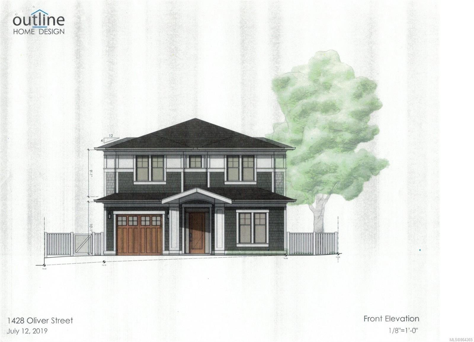 Main Photo: 1428 Oliver St in : OB South Oak Bay House for sale (Oak Bay)  : MLS®# 864365