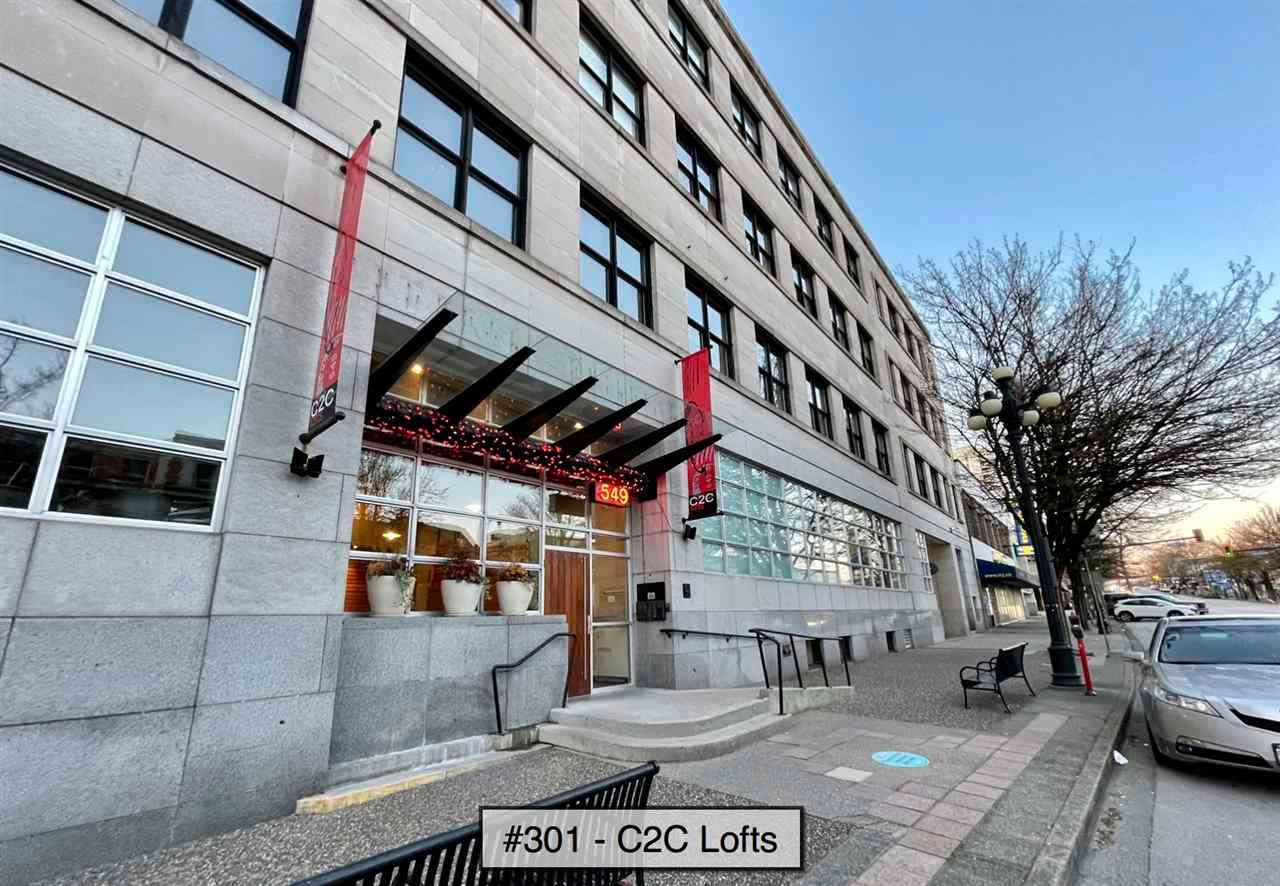 "Main Photo: 301 549 COLUMBIA Street in New Westminster: Downtown NW Condo for sale in ""C2C Lofts"" : MLS®# R2566964"